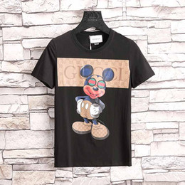 66c124119e3d55 New 2018 Mens designer Cotton t shirts funny Short Sleeve Crew neck tee  shirts Luxury blouse Sports Clothing Cheap Homme Brand Tops shirts