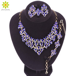 party decoration plates UK - Fashion Bridal Jewelry Sets Wedding Necklace Earring Ring for Bride Party Costume Accessories Jewellery Sets Decorations Women