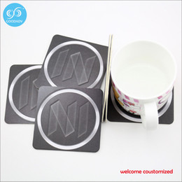 Wholesale Absorbent paper mat pad custom coaster disposable paper coasters new fashion table mat only welcome customer design