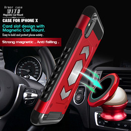 $enCountryForm.capitalKeyWord NZ - For Iphone 8 Plus Case Cover with Card Slot And Magnet Car Holder Function For iphone 8 XR XS Max Defender Shockproof