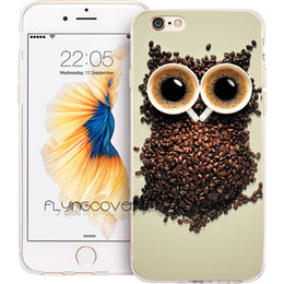 Plus Owl Case NZ - Coque Owl Coffee Style Clear Soft TPU Silicone Phone Cover for iPhone X 7 8 Plus 5S 5 SE 6 6S Plus 5C 4S 4 iPod Touch 6 5 Cases.