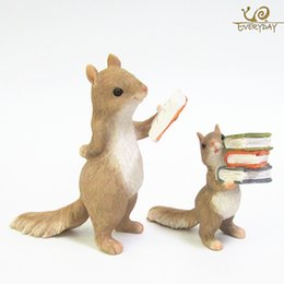 Discount animals ceramics - ccessories miniature Everyday Collection Home Decoration Accessories Cute Animal Hedgehog Squirrel Rabbit Resin Miniatur
