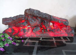 Ingrosso Camino elettrico simulazione di carbone di legna falso di legna da ardere decorazione del carbone di legna lampada di fiamma camino legno falò casa bar ornamento