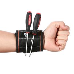 4 Цвет Магнитный браслет карманный инструмент пояс сумка винты держатель Холдинг инструменты практические сильный патрон наручные Toolkit