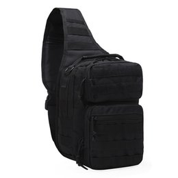 Wholesale High Quality Men Assualt Sling Back Pack MOLLE Waist Belt Pack Shoulder Cross Body Bag Riding Rucksack Nylon Chest Bags