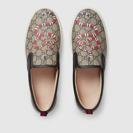 Chinese  407362 Snake Ace embroidered sneaker Loafers Drivers Espadrilles Sneakers Flats shoes manufacturers