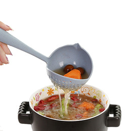 Skimmer tool online shopping - creative in Soup Spoons Long Handle soup ladle Strainer skimmer kitchen cooking Spoons Tools