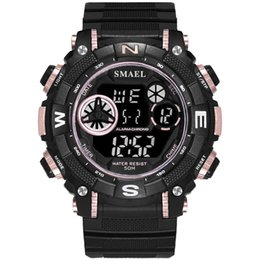 $enCountryForm.capitalKeyWord UK - Waterproof Digital Watch Electronic Watch Smael Men Sports Watches Dual Display Analog Digital LED Watches reloj hombre 2018