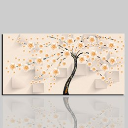Discount large flower canvas art prints - Large HD Printed Painting Modern Abstract Flower Canvas Printings Home Decor Wall Art Print Pictures Poster Gift for Liv