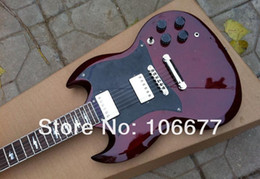 Electric Guitar Angus Young NZ - High Quality + Factory + New Deluxe SG 400 Angus Young Standard Electric Guitar Wine Red 2 Pickups Free Shipping