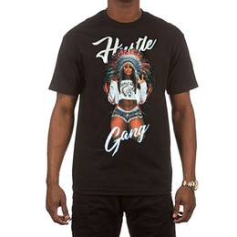 $enCountryForm.capitalKeyWord UK - Hustle Gang Men's Peach Baby T Shirt Black Tee T-Shirts Skate Clothing Apparel Hipster O-Neck Cool Tops Hip Hop Short Sleeve