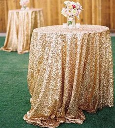 $enCountryForm.capitalKeyWord NZ - Bling Bling Rose Gold Sequin Table Covers Wedding Sequin Table Cloth for Weddings In Stock Wholesale Champagne Confetti Table Sequin Linens