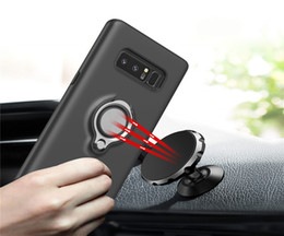 Silicone Phone Holder For Car Canada - For iPhone X Ring Car Phone Holder Kickstand Case Magnetic Cellphone Cover For Iphone X 8 8plus 7 6plus Samsung S8 Plus Case