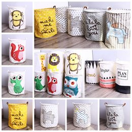 $enCountryForm.capitalKeyWord Canada - 14styles Fabric Laundry cartoon Basket Folding Bag Dirty clothes Pouch Bathroom Laundry Bag Picnic Basket Bin Handle Organizer FFA626 6PCS