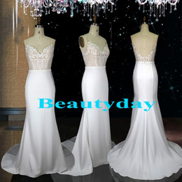 mermaid wedding dresses for maternity 2019 - 2019 New Wedding Dresses For Bride Beach Mermaid Wedding Dress Maternity Bridal Gowns Beads Sequins Lace V-Neck Boho Rea