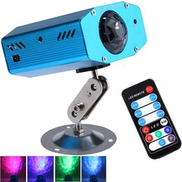 laser clubbing light Australia - Hot 10W RGB LED Mini Water Ripples Light Waterproof Blue Club Disco Stage Lamp Laser Projector US EU Plug with Color Changing Free Shipping