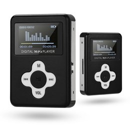 Discount silver sounds - Portable Mini MP3 Player with LCD Screen Mini Clip MP3 Player Support 32GB Micro SD TF Card Walkman Jack Nice Sound Gift