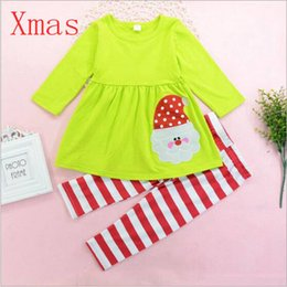 discount 18 month winter dress christmas baby girl clothes set santa print dress striped
