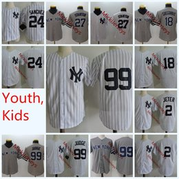 Cool baseball throwbaCk jerseys online shopping - Youth Derek Jeter Cool  Base baseball Jerseys Stitched Kids 3c320290b6d