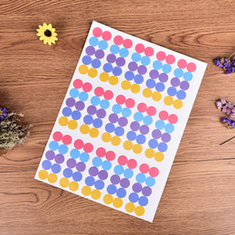 circle sticker paper 2019 - 150Pcs Sheet Colorful Paper Sticker Labels Glass Essential Oil Bottle Cap Lid Labels Blank Round Circles Stickers discou