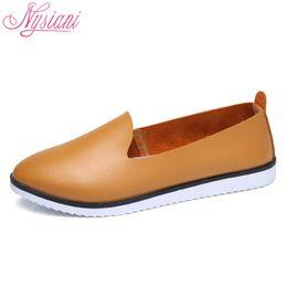 011ba132 2019 Casual 2018 Split cuero Oxford zapatos planos para mujer Nueva  primavera Slip-on Round Toe College Casual moda para mujer holgazanes  holgados Nysiani