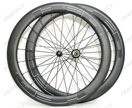 China 700C 60mm depth Road carbon wheels 25mm width Road bike clincher tubular carbon wheelset U-shape rim UD matte finish white HED Black decals cheap carbon clincher bike wheels suppliers