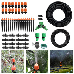 Drip System Hose NZ - Boruit Dual 10M DIY Micro Drip Irrigation System Plant Self Watering Garden Hose Kits Adjustable Dripper Smart Controller Suits