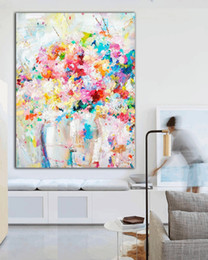 Flower Oil Paintings Australia - Handmade Original oil painting Color art bride Extra large Abstract Painting Flowers fine art wall art home decor