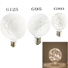 Vintage W Filament Copper Wire G G G Led Light Bulb E Base Ball Shape Decorative For Holiday Wedding Christmas