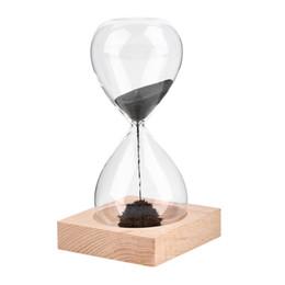 China Magnet Hourglass Hand-blown Sand Timer Desktop Decoration Magnetic Newest cheap desktop timers suppliers