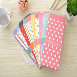 Discount cute wedding package - 5pc Korea Cute Colorful Polka Dot Paper Envelope Kawaii Small Baby Gift Craft Envelopes Wedding Letter Invitations Cards