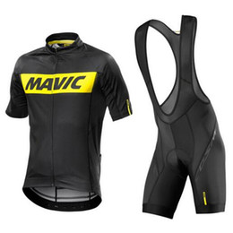 MAVIC Tour de France pro team Cycling jersey bib shorts set MTB Bicycle  Maillot Ropa Ciclismo Bike Short Sleeve Cycling Clothing+9D gel pad a623c5ab8