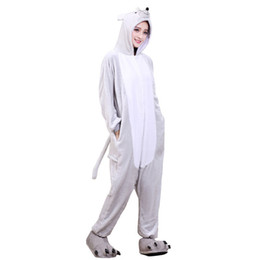 Pajama Party Costumes UK - Adult Onesie Mouse Cartoon Animal Pajama Unisex  Men Women Pyjama Gray 099c71134