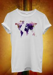 Cotton World Map Australia - World Map Galaxy Space Cool Hipster Men Women Unisex T Shirt Tank Top Vest 863