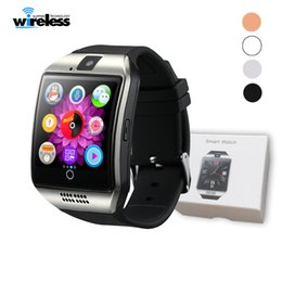 $enCountryForm.capitalKeyWord Canada - Bluetooth Smart Watch Q18 With Touch Screen Big Battery Support TF Sim Card Camera for Android Phone Smartwatch