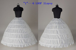 $enCountryForm.capitalKeyWord NZ - Super Cheap Ball Gown 6 Hoops Petticoat Wedding Slip Crinoline Bridal Underskirt Layes Slip 6 Hoop Skirt Crinoline For Quinceanera Dress