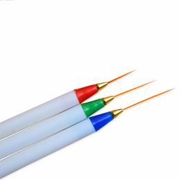 Chinese  Nail Salon 3pcs Nail Art Pencil Drawing Pen Dotting Tools Kit White Fine Plastic Paint Painting Striping Brush SATR29 manufacturers