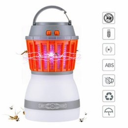 Lamp for camping online shopping - Bug Zapper Camping Lantern In LED Night Light Mosquito Insect Killer Zapper Waterproof Rechargeable Portable For Indoor Traveling Use