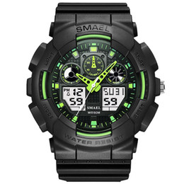 Men Quartz Wrist Watch Stainless Steel Led Digital Dual Time Clock For Men Sport Electronic Watches  Masculino Reloje Hot