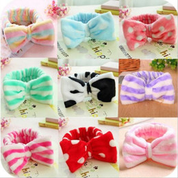 Dot Cottons NZ - 20PCS Cotton girl baby Turban Twist Headband Head Wrap Twisted Knot Soft stripe Hairband chevron Headbands golden Wave dot HeadWrap