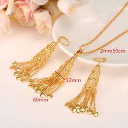 $enCountryForm.capitalKeyWord NZ - 24 k Yellow Fine Gold Filled Korean style lanterns Pendant earring set small bell bling hanging dangle Pendant earring heart