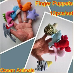 puppets 2019 - Ocean Soft Animal Finger Puppets Baby Hand Toy Ocean Animal Style Finger Puppets Cartoon Baby Story Telling Toy 10PCS 1s