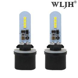 Vente en gros WLJH 10V-30V Voiture H27 880 LED Ampoule 893 899 Phare antibrouillard Lumière diurne Conduite lampe LED pour Hyundai Nissan Chevrolet Buick