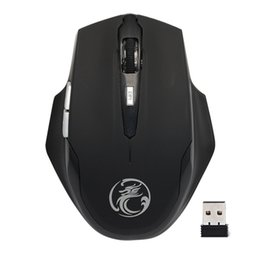 6fe9fc5a3ea Professional 2.4GHZ Wireless Mouse 1600DPI USB Optical Ergonomic Computer  Laptop PC Mouse for Office Work 6 Buttons Mice