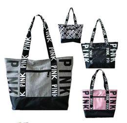 860c6a9677 Large Love canvas online shopping - 4 Colors Pink Handbags Shoulder Bags  Women girls Love Handbag