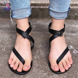 e90aa6b81e79 Summer Women Ladies Sandals Strap Flat Ankle Roman Casual Shoes Woman Thong Footwear  Women Sandals zapatos mujer Big Size 35~43