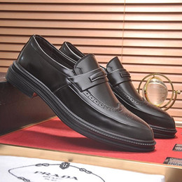 cd1a681afd Zapatos de boda Zapatos de vestir formales Oficina Pisos Negocio Calzado  Italia Tendencia Lujo Lujo Cuero Casual Diseñador Estilo de trabajo Zapatos  para ...