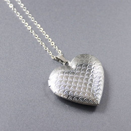 heart locket photo frame necklace Australia - Everfast WIFI Sign in Heart Photo Frame Cute Nautical Shell Stainless Steel Necklaces Charms Locket Necklace Women Memory Jewelry SN159