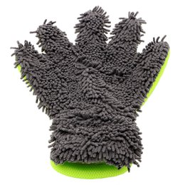 Wholesale Auto Care Detailing Home Cleaning Car Washing Gloves Microfiber Car Cleaning Window Wash Tool Car styling