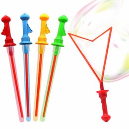 Toy Swords Wholesale NZ - Outdoor Toys Long Bubble Machine Gun Bar Sticks Without Water Western Sword Shape for Kids Soap Bubble Toy gifts